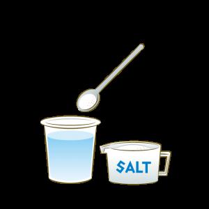 食塩水を作る